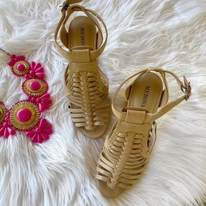 Merona Brown Strappy Bukle Heels